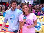 The ABC Chief meteorologist and her husband Ben Aaron revealed the sex of their baby on the way during a Tuesday segment on Good Morning America.  ?[I?m] excited, I?m happy to get it out there,? the mom-to-be, who?s expecting their first child in December, says before the big announcement.  ?I honestly don?t care [if it?s a boy or girl] as long as it looks like her side of the family,? adds Aaron, an NBC news correspondent.  The parents-to-be made the creative reveal by uncovering the lids of large alphabet blocks, out of which popped blue balloons. As the couple cheers, Aaron shouts, ?A son!?