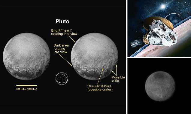 NASA's New Horizons reveals Pluto's cliffs and craters as it prepares for flyby