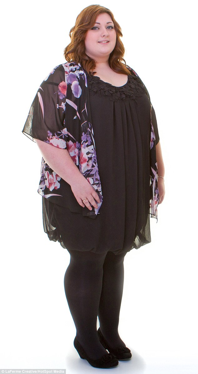 Emily, pictured at 23 stone, said:'I'll never go back to being so big again. While it was horrible at the time, that kebab has completely transformed my life'