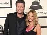 Mandatory Credit: Photo by Jim Smeal/BEI/REX Shutterstock (4419635ey).. Blake Shelton and Miranda Lambert.. 57th Annual Grammy Awards, Arrivals, Los Angeles, America - 08 Feb 2015.. ..