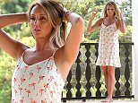 EXCLUSIVE: Charlotte Crosby takes a break from shooting for In the style web based retailer  Pictured: Charlotte Crosby Ref: SPL1083407  200715   EXCLUSIVE Picture by: Greg Sirc / Splash News  Splash News and Pictures Los Angeles: 310-821-2666 New York: 212-619-2666 London: 870-934-2666 photodesk@splashnews.com