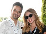 EDITORIAL USE ONLY A pregnant Kimberley Walsh and partner Justin Scott enjoy the RobinsonsÕ suite at The All England Tennis Club in Wimbledon, south west London.  ... Tennis - 2014 Wimbledon Championships - Day Two - The All England Lawn Tennis and Croquet Club ... 24-06-2014 ... London ... UK ... Photo credit should read: Doug Peters/PA Wire. Unique Reference No. 20207513 ... Picture date: Tuesday June 24, 2014. Photo credit should read: Doug Peters/PA Wire