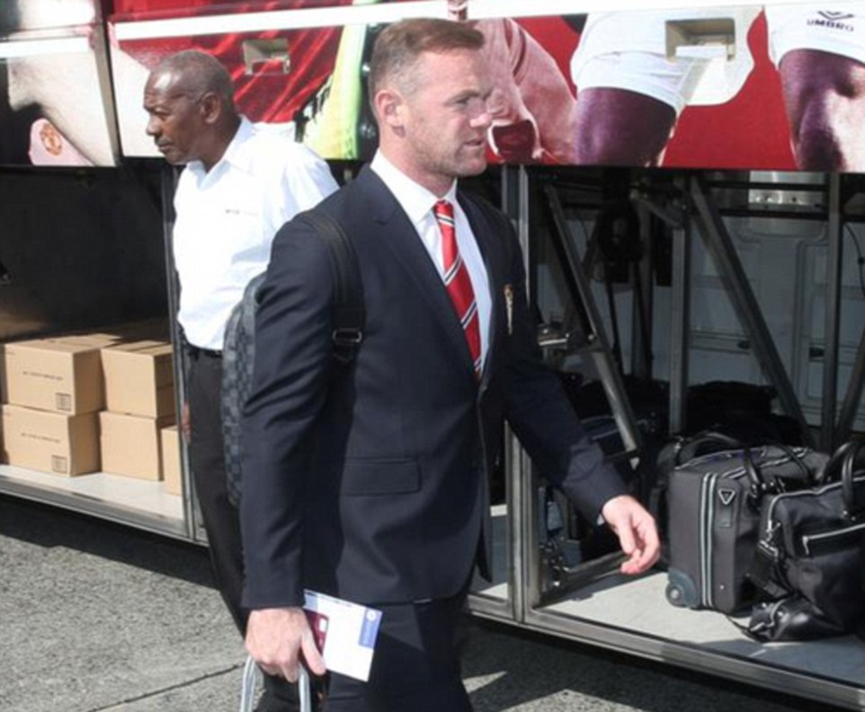 United captain Wayne Rooney walks off the coach and will be leading a new-look team for next season in the Premier League