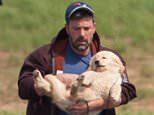 Atlanta, GA - Actor Ben Affleck arrived in Atlanta via private plane on Monday afternoon to visit with his children, who are staying with his ex-wife Jennifer Garner while she films her new movie. The 'Batman vs. Superman' star carried along a fluffy yellow lab puppy, most likely as a gift for his three children. AKM-GSI     July 19, 2015 To License These Photos, Please Contact : Steve Ginsburg (310) 505-8447 (323) 423-9397 steve@akmgsi.com sales@akmgsi.com or Maria Buda (917) 242-1505 mbuda@akmgsi.com ginsburgspalyinc@gmail.com
