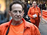 Medical entrepreneur Geoffrey Edelsten is seen filming Celebrity Apprentice at Martin Place in Sydney, Tuesday, July 21, 2015.  (AAP Image/Mick Tsikas) NO ARCHIVING