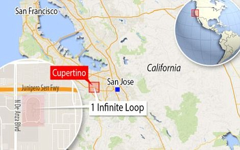 Covering 175 acres, Apple's 'Campus 2' headquarters will replace its current offices at 1 Infinite Loop (pictured)