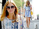07/20/15 NYC - Olivia Palermo in Brooklyn, New York City chatting away on her phone while walking her pooch, a very happy Mr. Butler on Monday July 20th, 2015. Photo Credit: Luis Yllanes / Splash News\n\nPictured: Olivia Palermo\nRef: SPL1079079  200715  \nPicture by: Luis Yllanes / Splash News\n\nSplash News and Pictures\nLos Angeles: 310-821-2666\nNew York: 212-619-2666\nLondon: 870-934-2666\nphotodesk@splashnews.com\n