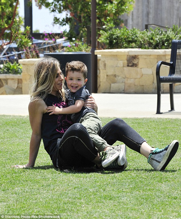 Working mom: The 41-year-old has built an empire in the fitness industry. In March her active wear line Impact by Jillian Michaels launched at KMART