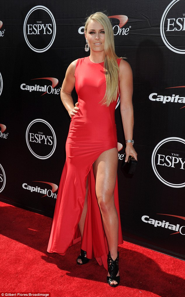 Ex text: Lindsey Vonn revealed at Wednesday's ESPY awards that she is still in contact with Tiger Woods