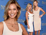 """NEW YORK, NY - JULY 21:  Kimberly Kloss and Karlie Kloss attends the """"Paper Towns"""" New York Premiere  at AMC Loews Lincoln Square on July 21, 2015 in New York City.  (Photo by Dimitrios Kambouris/Getty Images)"""