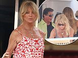 Picture Shows: Goldie Hawn  July 21, 2015    Goldie Hawn spotted on the yacht of Sylvester Stallone in Saint Tropez, France. Goldie was dressed for a vacation in a floral summer dress.    Non-Exclusive  UK RIGHTS ONLY    Pictures by : FameFlynet UK © 2015  Tel : +44 (0)20 3551 5049  Email : info@fameflynet.uk.com