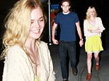 UK CLIENTS MUST CREDIT: AKM-GSI ONLY\nEXCLUSIVE: Elle Fanning and her new boyfriend, Zalman Band, wrap up a low-key movie date night at ArcLight Hollywood.  The 17-year-old actress wore an cream colored embellished sweater over a bright yellow babydoll dress and leather shoes.\n\nPictured: Elle Fanning, Zalman Band\nRef: SPL1084920  200715   EXCLUSIVE\nPicture by: AKM-GSI / Splash News\n\n