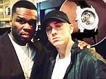22 JULY 2015 \n50 CENT AND EMINEM IN THIS GREAT CELEBRITY TWITTER PICTURE!\nBYLINE MUST READ : SUPPLIED BY XPOSUREPHOTOS.COM\n*XPOSURE PHOTOS DOES NOT CLAIM ANY COPYRIGHT OR LICENSE IN THE ATTACHED MATERIAL. ANY DOWNLOADING FEES CHARGED BY XPOSURE ARE FOR XPOSURE'S SERVICES ONLY, AND DO NOT, NOR ARE THEY INTENDED TO, CONVEY TO THE USER ANY COPYRIGHT OR LICENSE IN THE MATERIAL. BY PUBLISHING THIS MATERIAL , THE USER EXPRESSLY AGREES TO INDEMNIFY AND TO HOLD XPOSURE HARMLESS FROM ANY CLAIMS, DEMANDS, OR CAUSES OF ACTION ARISING OUT OF OR CONNECTED IN ANY WAY WITH USER'S PUBLICATION OF THE MATERIAL*\n*UK CLIENTS MUST CALL PRIOR TO TV OR ONLINE USAGE PLEASE TELEPHONE 0208 344 2007*