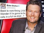 """THE VOICE -- """"Live Top 12"""" Episode 813A -- Pictured: Blake Shelton -- (Photo by: Trae Patton/NBC/NBCU Photo Bank via Getty Images)"""