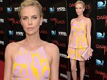 """LOS ANGELES, CA - JULY 21:  Actress/Producer  Charlize Theron attends the Premiere Of DIRECTV's """"Dark Places"""" at Harmony Gold Theatre on July 21, 2015 in Los Angeles, California.  (Photo by Jason Kempin/Getty Images)"""