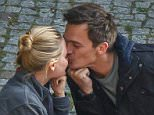 EXCLUSIVE Rupert Friend gets initmate with his wife during a break in filming Homeland in Germany Rupert Friend gives his wife Aimee Mullins a loving kiss during a breaking in filming in Nauen. He is currently filming the 5th series of the hit US TV-series Homeland. Rupert looks very happy that his wife joined him on set. Nauen, Germany - ©Hgm/Exclusivepix Media
