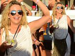 EXCLUSIVE ALL ROUNDER Lydia Bright is in Ibiza celebrating a Hen Due with friends, another celebrity attending the party is Denise Van Outen. The girls partied all afternoon at The Ocean Beach Club. Lydia looked like she had her party mood on as the TOWIE star couldn't stop dancing with her friends.\n21 July 2015.\nPlease byline: Vantagenews.co.uk
