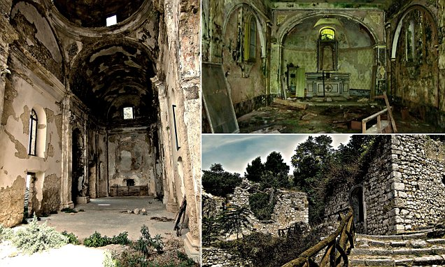 The towns that time forgot: Haunting images of Italy's abandoned ghost towns left in eerie