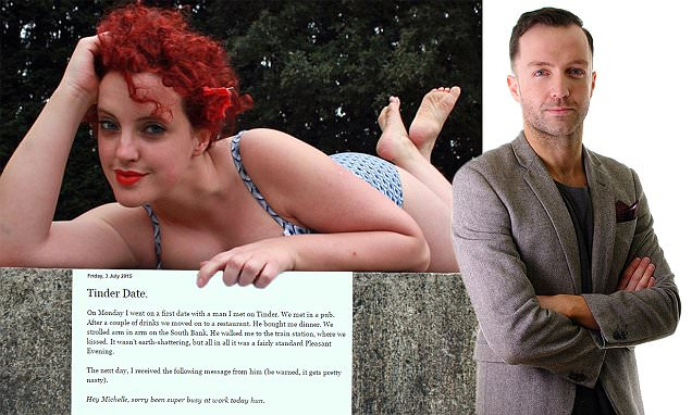 Tinder dater Michelle who shamed man for his body-type preference is 'a hypocrite'