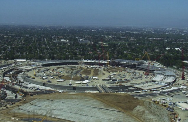Apple's 'spaceship' takes shape: Footage reveals more about Campus 2
