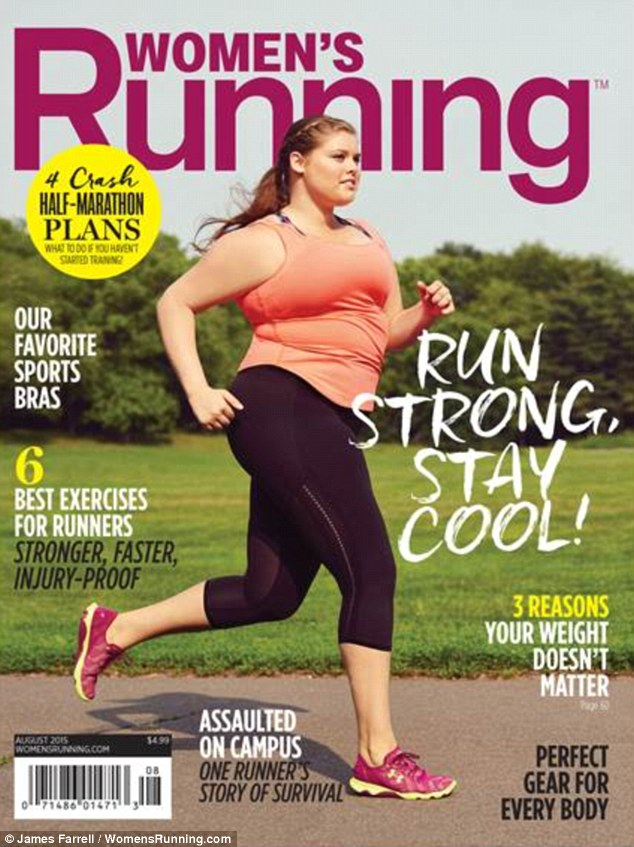 Breaking barriers: Plus-size modelErica Schenk appears on the cover of the Agust issue of Women's Running, and has recently opened up about being catapulted into the spotlight
