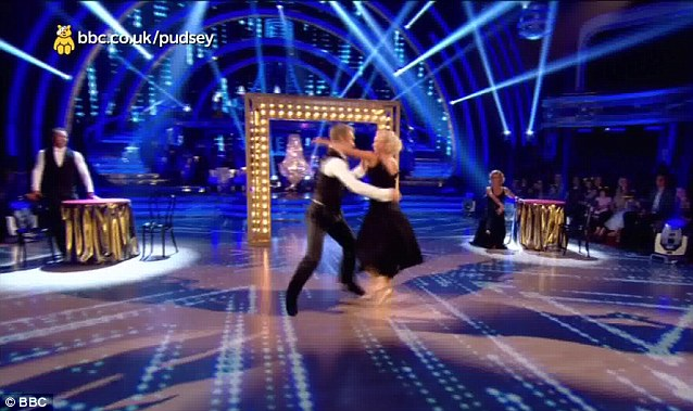 Back together: During the routine Chris and Jayne danced together
