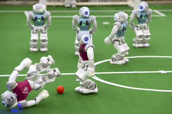 Robot play football