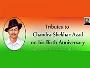 Tribute to Chandra Sekhar Azad with an image of Bhagat Singh