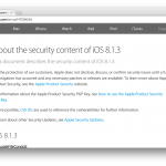 About the security content of iOS 8.1.3