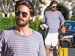 UK CLIENTS MUST CREDIT: AKM-GSI ONLY\nEXCLUSIVE: **NO WEB, MUST CALL FOR PRICING, EMBARGO UNTIL 7/24/15, 9:00AM PST** *PREMIUM EXCLUSIVE* Calabasas, CA - Scott Disick was spotted spending time with his son Mason on Wednesday afternoon, buying some toys from Barnes and Noble before then eating dinner together at Rosti Cafe in Calabasas. Scott made headlines recently when he was spotted hanging out with his ex-girlfriend in the South of France, leading to the official split between him and his partner Kourtney Kardashian.\n\nPictured: Scott and Mason Disick\nRef: SPL1086019  230715   EXCLUSIVE\nPicture by: AKM-GSI\n\n