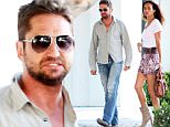 **EXCLUSIVE** Date: July 23rd 2015 Photo Credit: MOVI Inc.Scottish hearthrob Gerard Butler and his girlfriend Morgan Brown still seem to be going storng as the pair meet up on trendy Melrose Place in West Hollywood,Ca. The couple spent over an hour behind closed doors in the high end Kiki De Montparnasse lingerie store before leaving through the back door to avoid prying eyes.