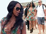 July 23rd 2015 - St tropez\nNaomi Campbell at the Club 55 in St Tropez.\n****** BYLINE MUST READ : © Spread Pictures ******\n****** No Web Usage before agreement ******\n****** Strictly No Mobile Phone Application or Apps use without our Prior Agreement ******\nEnquiries at photo@spreadpictures.com