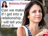 EXCLUSIVE TO INF.\nJuly 22, 2015: Bethenny Frankel steps out to the hair salon to dye her hair today in The Hamptons, New York. Recently Frankel has been romantically linked to Eric Stonestreet from Modern Family. \nMandatory Credit: Matt Agudo/INFphoto.com Ref.: infusny-251