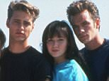 No Merchandising. Editorial Use Only.. Mandatory Credit: Photo by SNAP/REX Shutterstock (390878mo).. FILM STILLS OF 'BEVERLY HILLS, 90210 - TV' WITH 1991, ENSEMBLE IN 1991.. Various.. ..
