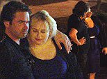 140447, EXCLUSIVE: ROMANTIC REBEL - Rebel Wilson and boyfriend Mickey Gooch Jr. get cozy while on a romantic dinner in Ibiza. Ibiza, Spain - Wednesday July 22, 2015. USA, AUS, NZ, SOUTH AFRICA, CHINA, & JAPAN ONLY  Photograph: © CRYSTAL, PacificCoastNews. Los Angeles Office: +1 310.822.0419 sales@pacificcoastnews.com FEE MUST BE AGREED PRIOR TO USAGE
