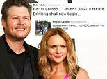 FILE - In this Feb. 8, 2015 file photo, Blake Shelton, left, and Miranda Lambert arrive at the 57th annual Grammy Awards in Los Angeles. Shelton and Lambert announced their divorce after four years of marriage. Sheltonís spokesman provided a statement from the couple on Monday, July 20, 2015. (Photo by Jordan Strauss/Invision/AP, File)