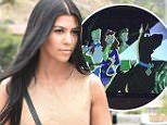 Kourtney Kardashian along with Mason arrive to film for the show KUWTK in Los Angeles\n\nPictured: Kourtney Kardashian\nRef: SPL1084109  210715  \nPicture by: Photographer Group / Splash News\n\nSplash News and Pictures\nLos Angeles: 310-821-2666\nNew York: 212-619-2666\nLondon: 870-934-2666\nphotodesk@splashnews.com\n