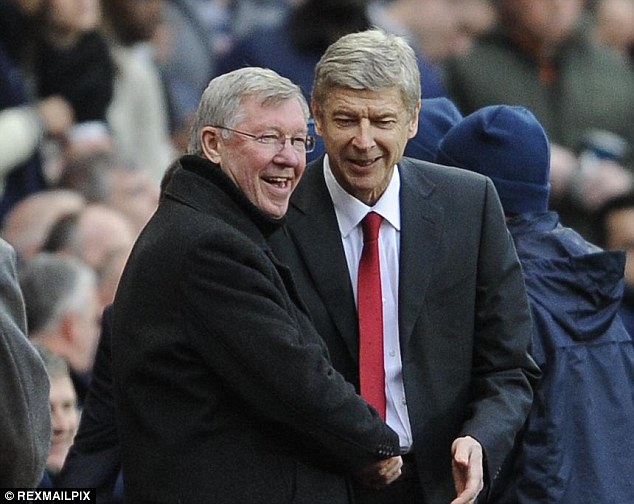 Pals: Old foes Ferguson and Wenger have since made up