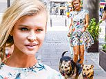 140540, Joanna Krupa seen for the Dzie? Dobry TVN show along with two shelter dogs in Warsaw. Warsaw, Poland - Saturday July 25, 2015. POLAND OUT Photograph: © PacificCoastNews. Los Angeles Office: +1 310.822.0419 sales@pacificcoastnews.com FEE MUST BE AGREED PRIOR TO USAGE