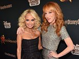 "BURBANK, CA - JULY 24:  Actors Kristin Chenoweth and Kathy Griffin attend the premiere of Disney Channel's ""Descendants""  at Walt Disney Studios on July 24, 2015 in Burbank, California.  (Photo by Alberto E. Rodriguez/Getty Images)"