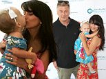 WATER MILL, NY - JULY 25:  Alec Baldwin, Carmen Baldwin, and Hilaria Baldwin attend the Ovarian Cancer Research Fund's Super Saturday NY at Nova's Ark Project on July 25, 2015 in Water Mill, New York.  (Photo by Sonia Moskowitz/WireImage)