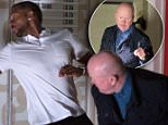 WARNING: Embargoed for publication until 28/07/2015 - Programme Name: EastEnders - TX: 03/08/2015 - Episode: 5113 (No. n/a) - Picture Shows: Phil gives Vincent a final warning.  Vincent (RICHARD BLACKWOOD), Phil Mitchell (STEVE MCFADDEN) - (C) BBC - Photographer: Jack Barnes