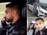 BOXER Amir Khan was under fire last night for being filmed driving down a motorway using his phone.