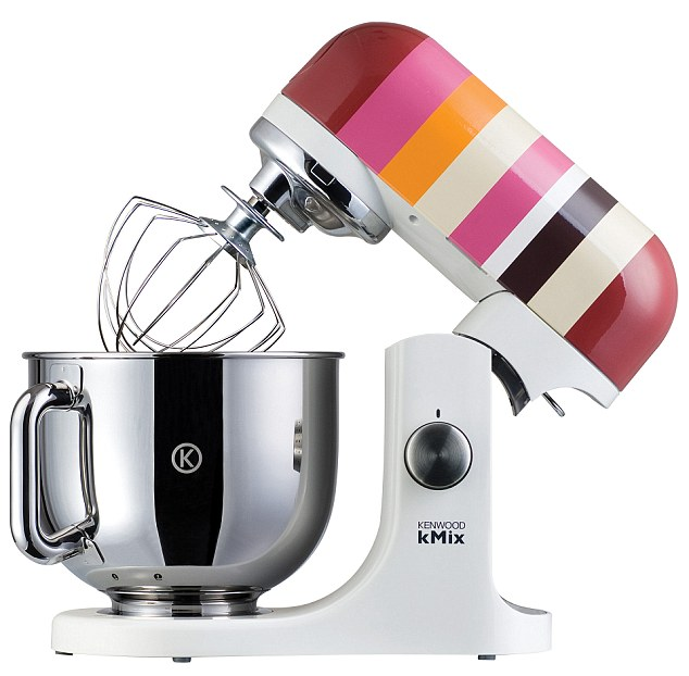Stripey sensation: The Kenwood kMix in Firecracker will add zest to your kitchen and your cooking