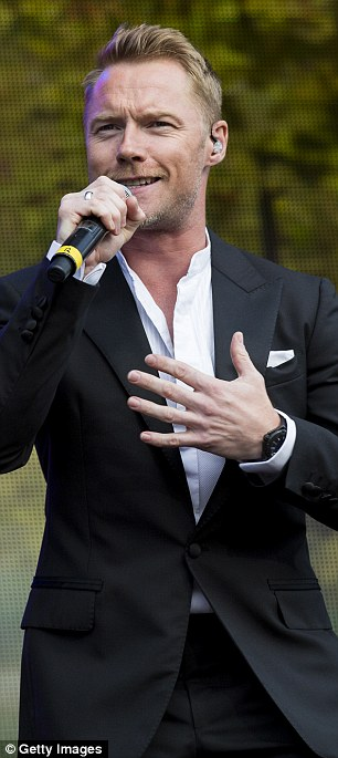 Light Up The Night: Mikey Graham (left) and Ronan Keating (right) looked like they were thoroughly enjoying performing to the crowds in Hyde Park
