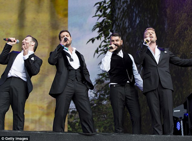 When The Going Gets Tough: The Irish boyband had a great time belting out their biggest hits