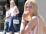 Picture Shows: Elle Fanning  July 27, 2015    Busy actress Elle Fanning is all smiles while leaving a meeting with a friend in Studio City, California.    Exclusive - All Round  UK RIGHTS ONLY    Pictures by : FameFlynet UK © 2015  Tel : +44 (0)20 3551 5049  Email : info@fameflynet.uk.com