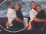 Leonardo DiCaprio with model girlfriend Kelly Rohrbach are seen on a super yacht on July 26, 2015 in Porto Cervo, Sardinia, Italy. Photo BEESCOOP.COM excl