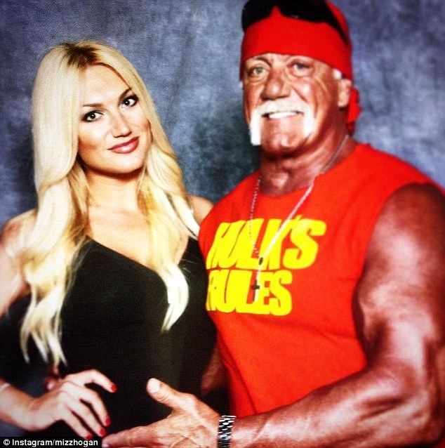Relatives: Hogan is pictured with his daughter, Brooke. In the tapes that resulted in his firing from World Wrestling Entertainment last Friday, Hogan speculates about his daughter sleeping with a black man