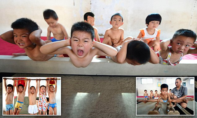 Tiny young children in China drilled at gymnastics boot camp to be future stars